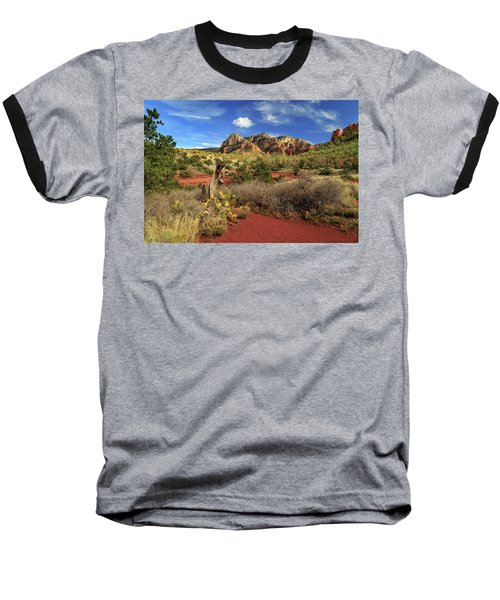 Some Cactus In Sedona Baseball T-Shirt by James Eddy