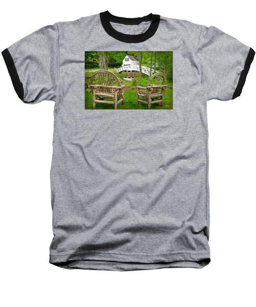 Somesville Maine - Arched Bridge Baseball T-Shirt