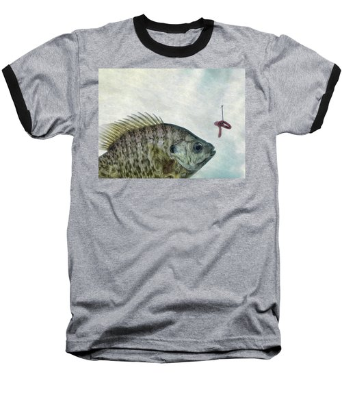 Something Fishy Baseball T-Shirt by Mark Fuller