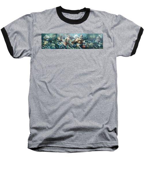 Something Fowl Afloat 2b Baseball T-Shirt by Patrick Anthony Pierson