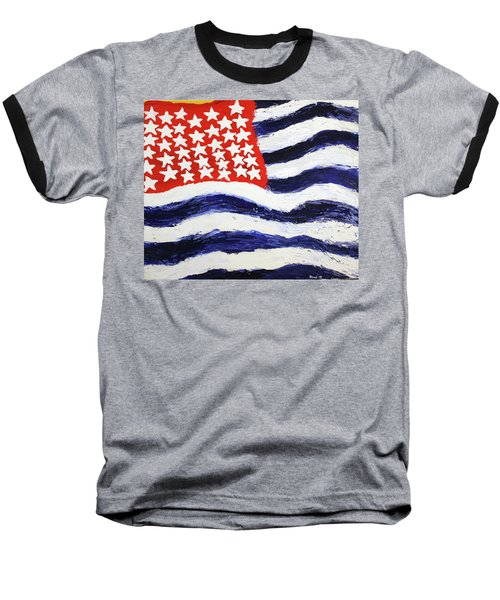 Something's Wrong With America Baseball T-Shirt by Thomas Blood