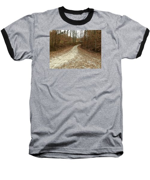 Somewhere Down The Road Baseball T-Shirt by Russell Keating