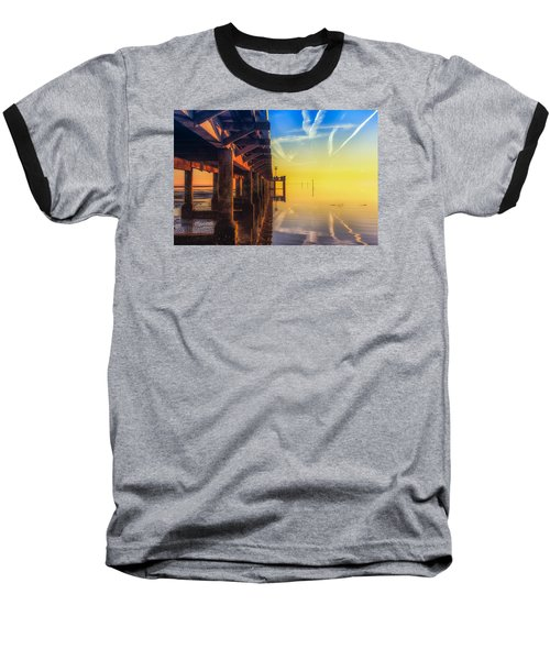 Somewhere Else Baseball T-Shirt by Thierry Bouriat
