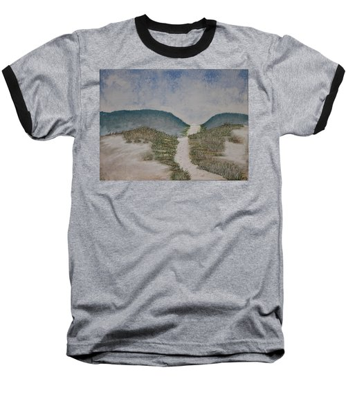 Baseball T-Shirt featuring the painting Somewhere In Florida by Antonio Romero