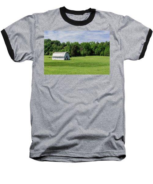 Barn In Green Pasture Baseball T-Shirt