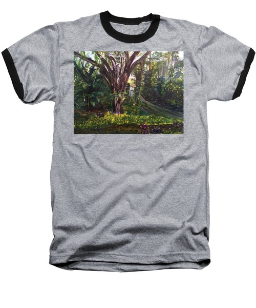 Somewhere In The Park Baseball T-Shirt by Belinda Low