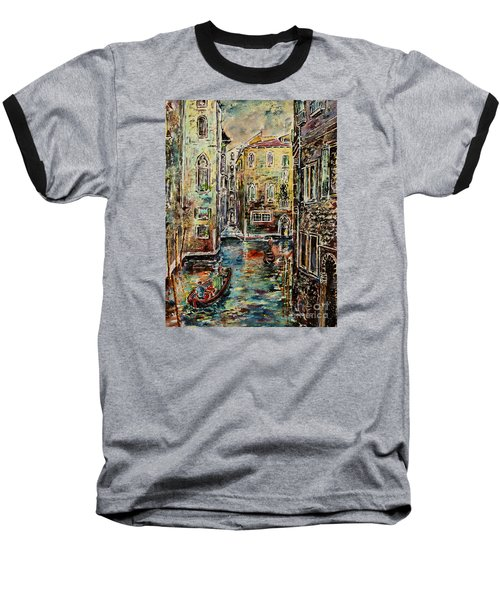 Somewhere In Venice Baseball T-Shirt by Alfred Motzer