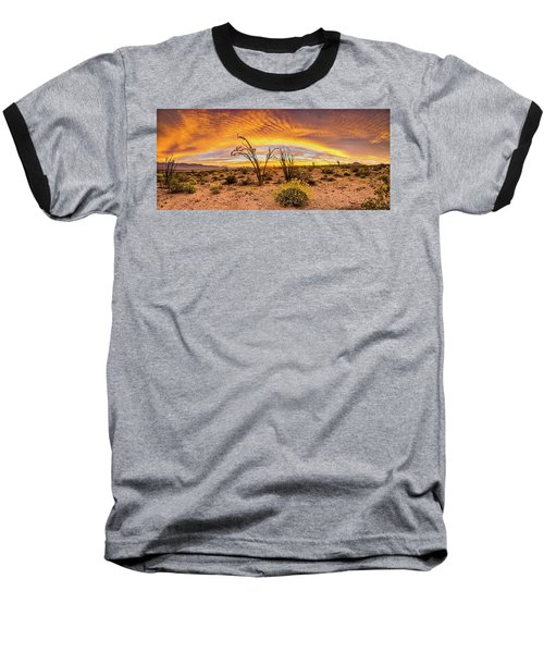 Baseball T-Shirt featuring the photograph Somewhere Over by Peter Tellone