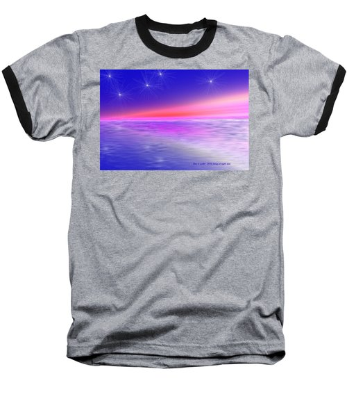 Baseball T-Shirt featuring the digital art Song Of Night Sea by Dr Loifer Vladimir