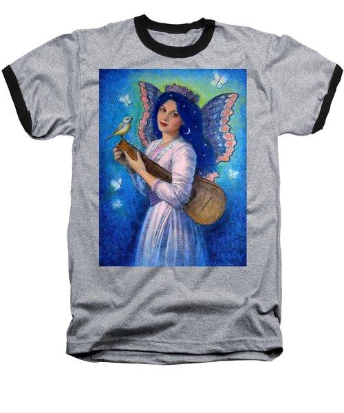 Songbird For A Blue Muse Baseball T-Shirt