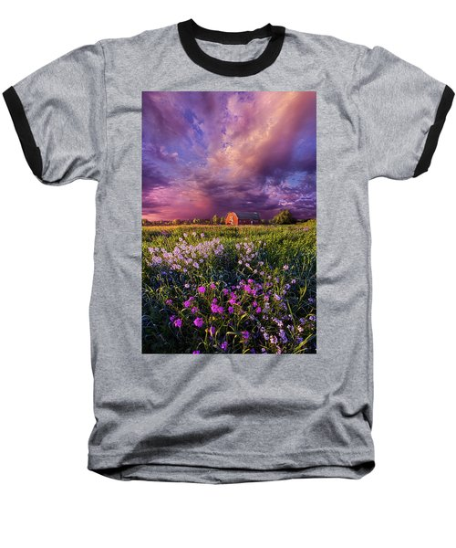 Baseball T-Shirt featuring the photograph Songs Of Days Gone By by Phil Koch