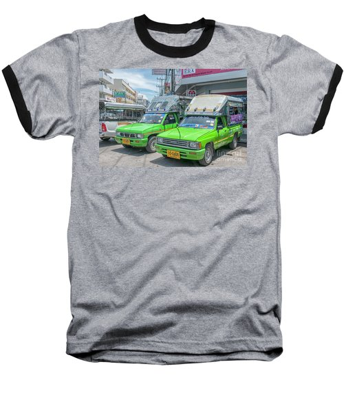 Baseball T-Shirt featuring the photograph Songthaew Taxi by Antony McAulay