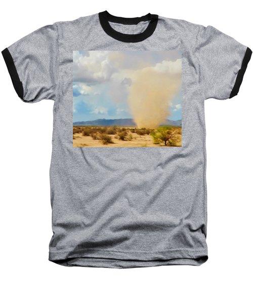 Sonoran Desert Dust Devil Baseball T-Shirt