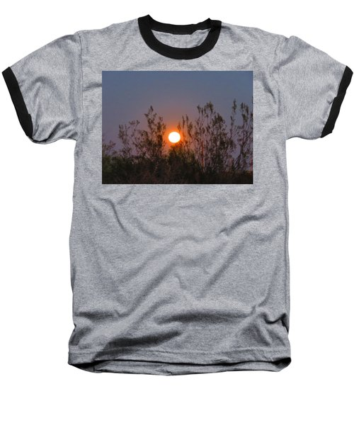 Sonoran Desert Harvest Moon Baseball T-Shirt