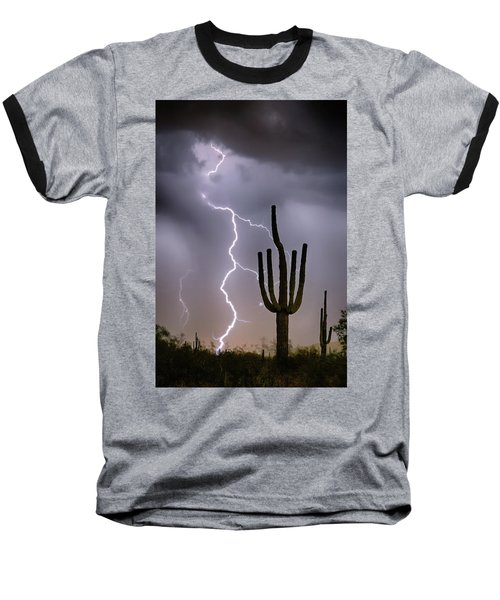Baseball T-Shirt featuring the photograph Sonoran Desert Monsoon Storming by James BO Insogna