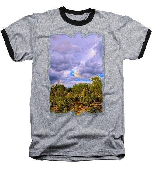 Sonoran Desert V13 Baseball T-Shirt by Mark Myhaver
