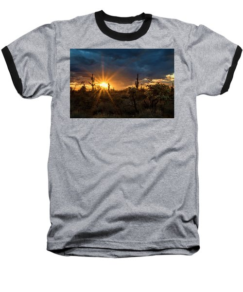 Baseball T-Shirt featuring the photograph Sonoran Gold At Sunset  by Saija Lehtonen