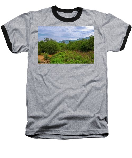 Baseball T-Shirt featuring the photograph Sonoran Greenery H30 by Mark Myhaver