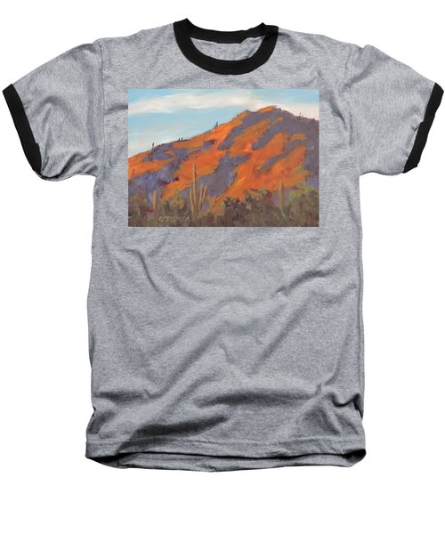 Sonoran Sunset - Art By Bill Tomsa Baseball T-Shirt