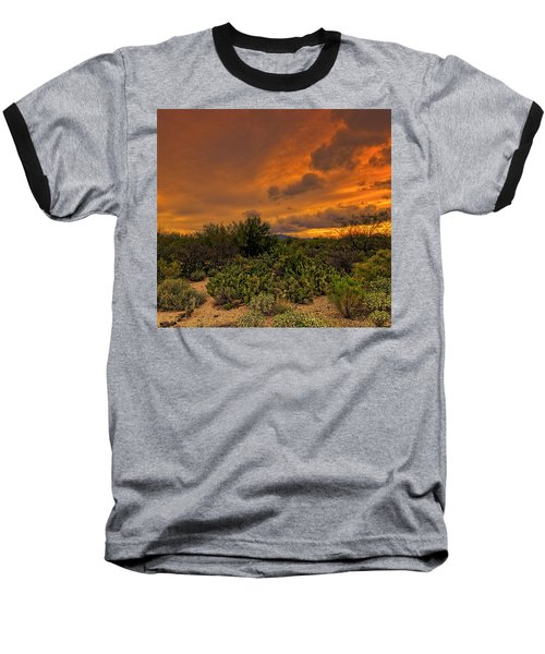 Baseball T-Shirt featuring the photograph Sonoran Sunset H4 by Mark Myhaver