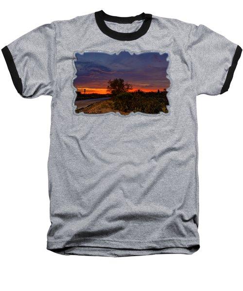 Sonoran Sunset H48 Baseball T-Shirt by Mark Myhaver