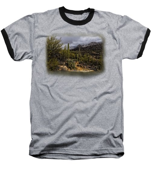 Sonoran Winter No.3 Baseball T-Shirt by Mark Myhaver