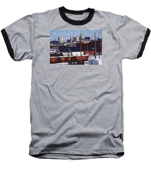 Soo Line Baseball T-Shirt by David Blank