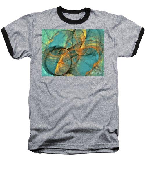 Baseball T-Shirt featuring the digital art Soothing Blue by Deborah Benoit