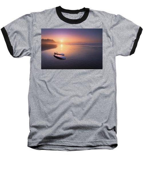 Sopelana Beach With Surfboards On The Shore Baseball T-Shirt