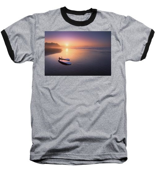 Sopelana Beach With Surfboards On The Shore Baseball T-Shirt