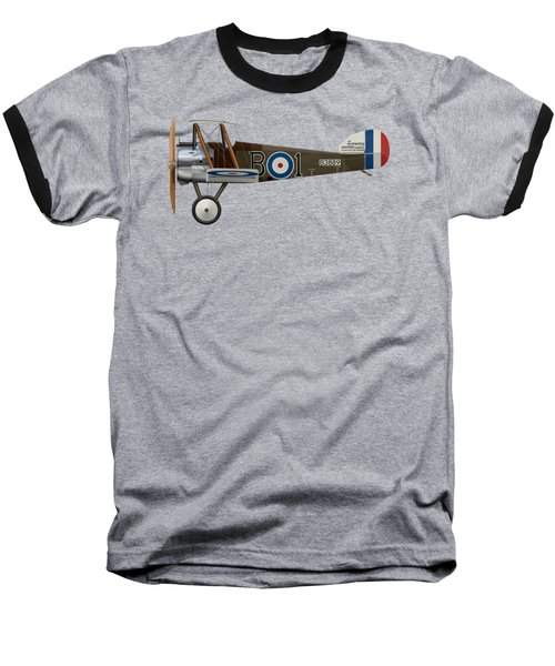 Sopwith Camel - B3889 - Side Profile View Baseball T-Shirt by Ed Jackson