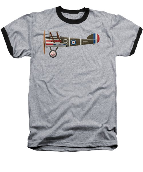 Sopwith Camel - B6299 - Side Profile View Baseball T-Shirt by Ed Jackson