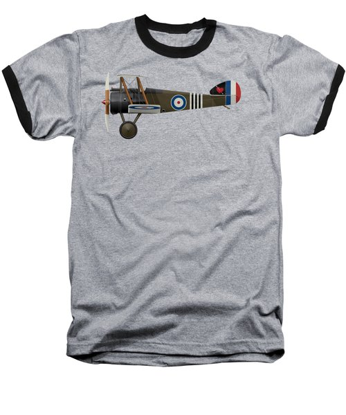 Sopwith Camel - B6313 June 1918 - Side Profile View Baseball T-Shirt by Ed Jackson