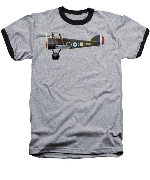 Sopwith Camel - B6344 - Side Profile View Baseball T-Shirt by Ed Jackson