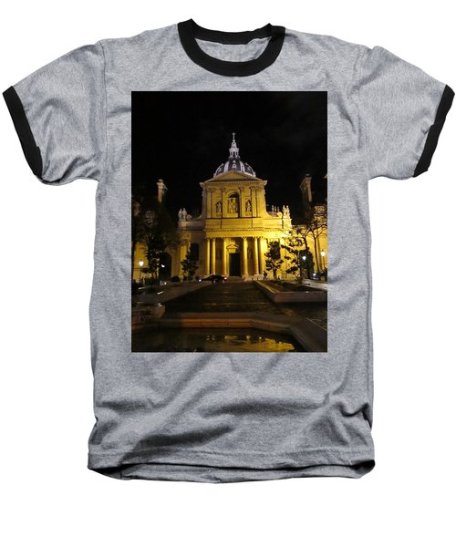Baseball T-Shirt featuring the photograph Sorbonne Night by Christopher Kirby