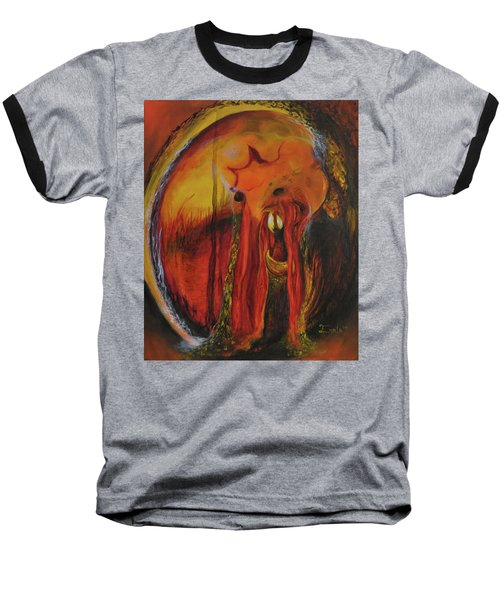 Baseball T-Shirt featuring the painting Sorcerer's Gate by Christophe Ennis