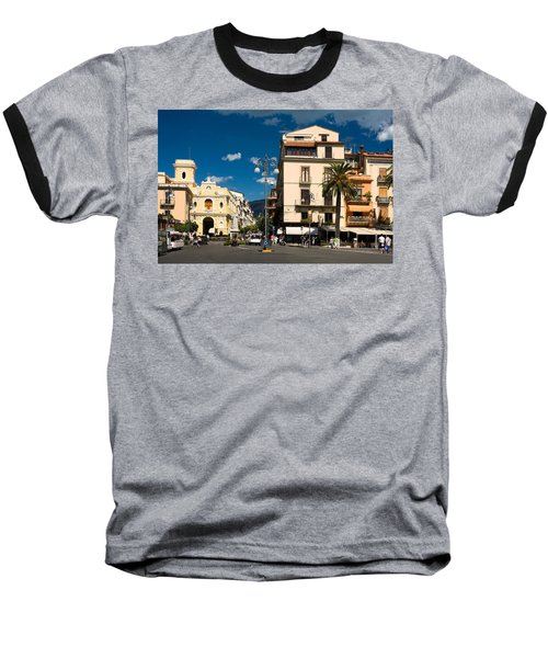 Sorrento Italy Piazza Baseball T-Shirt