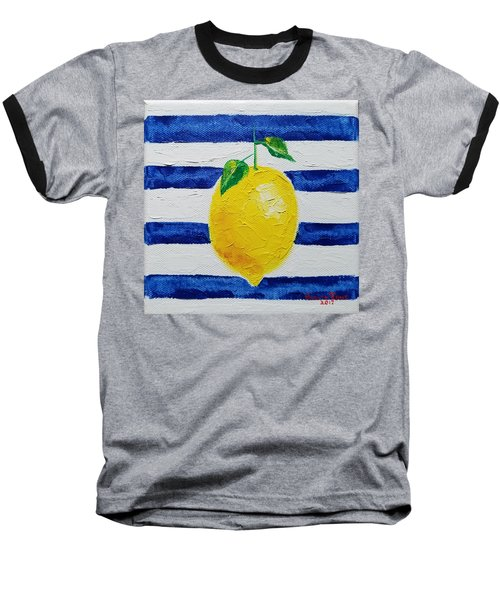 Baseball T-Shirt featuring the painting Sorrento Lemon by Judith Rhue