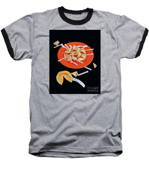 Misfortune Cookies Baseball T-Shirt by Joe Jake Pratt