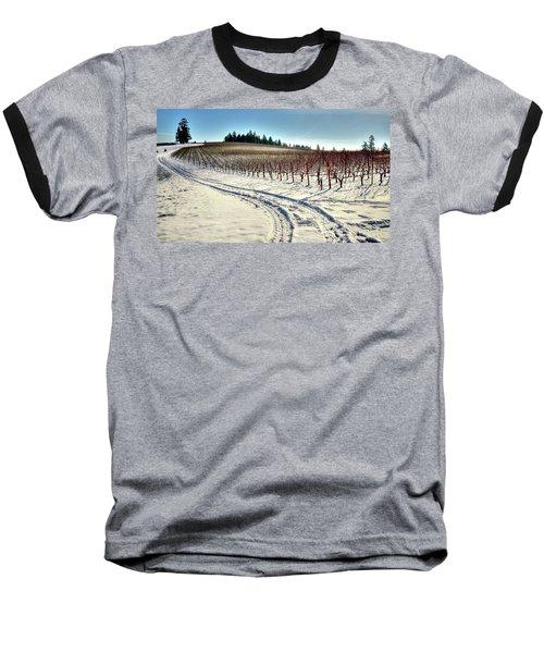 Soter Vineyard Winter Baseball T-Shirt by Jerry Sodorff