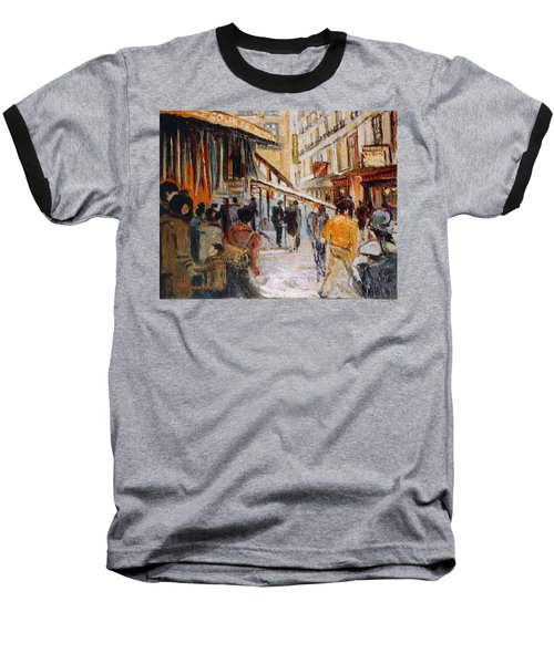 Baseball T-Shirt featuring the painting Souk De Buci by Walter Casaravilla