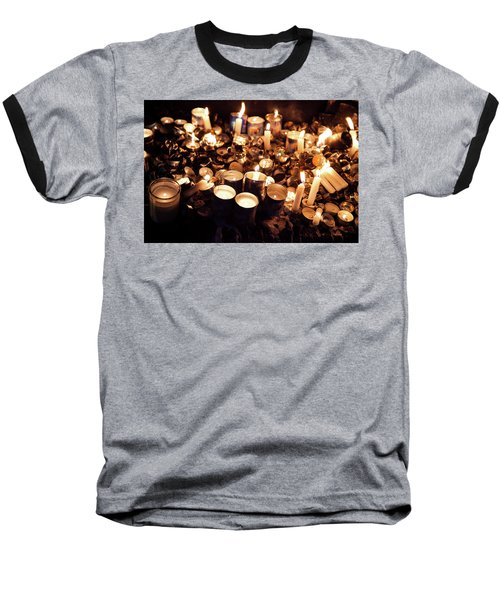 Soul Candles Baseball T-Shirt by Yoel Koskas