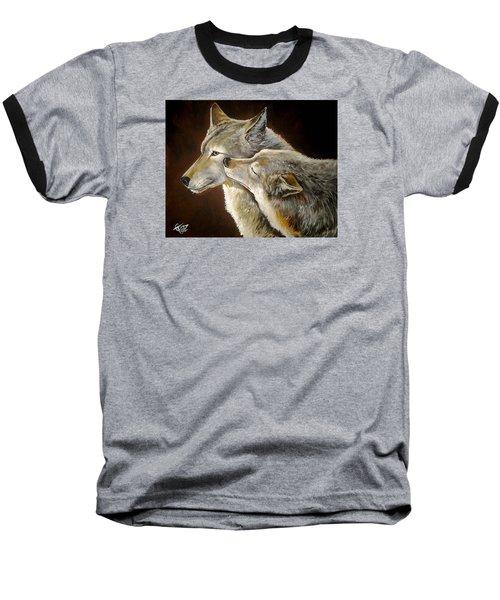 Soul Mates Baseball T-Shirt by Tom Carlton