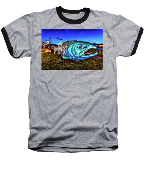 Soul Salmon During Blue Hour Baseball T-Shirt by Rob Green