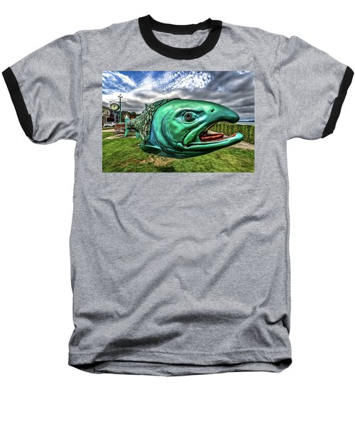 Soul Salmon In Hdr Baseball T-Shirt