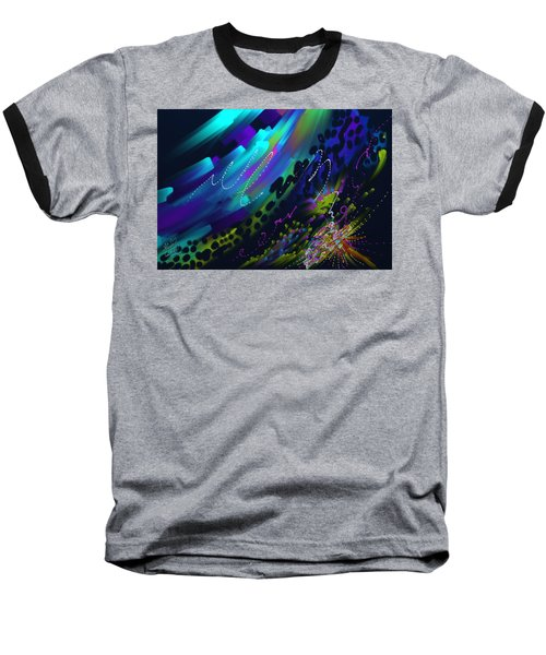 Baseball T-Shirt featuring the painting Soul So Blue by Kevin Caudill