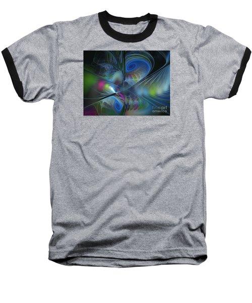 Baseball T-Shirt featuring the digital art Sound And Smoke by Karin Kuhlmann