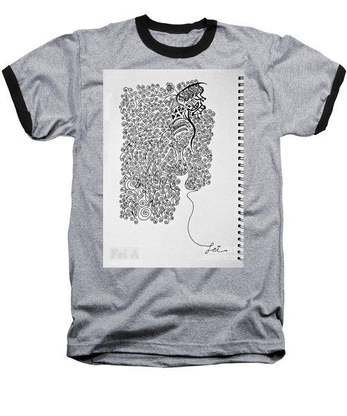 Soundless Whisper Baseball T-Shirt by Fei A