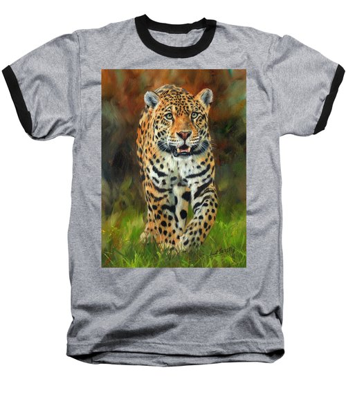South American Jaguar Baseball T-Shirt