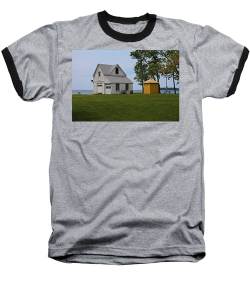 South Bass Island Lighthouse Barn And Oil Storage Building I Baseball T-Shirt by Michiale Schneider